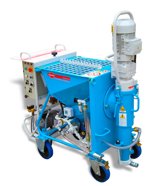 Single-phase plastering machine for ready-mix dry plaster - CK 20