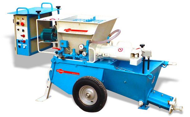 double-mixing plastering machine for ready-mix dry mortar CK 25