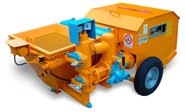 Piston plastering machine for traditional mortars and ready-mix plasters EVUTECH Edilmac