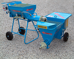 continuous mixer combined with small plastering machine to mix ready-mix dry mortars