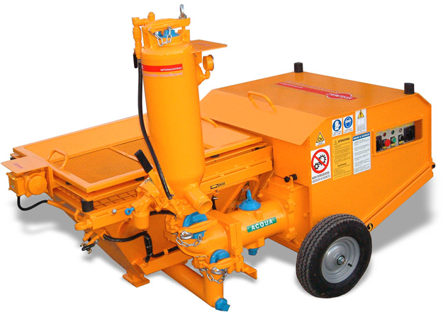 Piston plastering machine for traditional mortars P 110 Edilmac