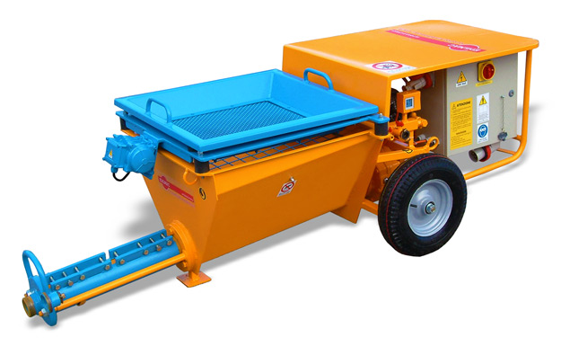 Worm plastering and transporter machine PC 500 L - PC 500 I Edilmac for all type of mortars and plasters