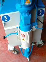 front view of single-phase plastering machine for finishing plasters PMF 10 Edilmac
